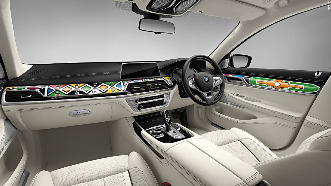 The new car, a BMW 7 Series, will be auctioned at the Frieze festival in London and proceeds will be donated.