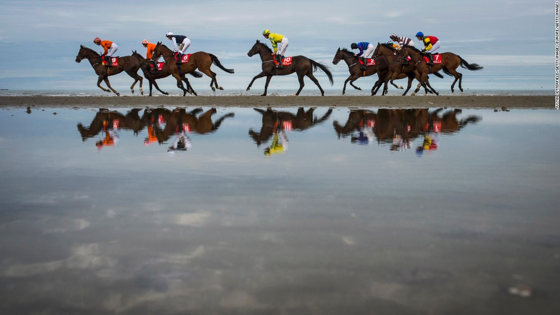 There's nothing else quite like it in Europe -- the only horse race where life's a beach.