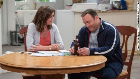 KEVIN CAN WAIT stars Kevin James (pictured) as a newly retired police officer looking forward to spending carefree, quality time with his wife (Erinn Hayes, pictured) and three kids, only to discover he faces tougher challenges at home than he ever did on the streets. Photo: David Giesbrecht/CBS ©2016 CBS Broadcasting, Inc. All Rights Reserved.
