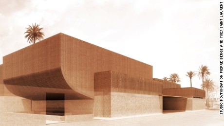 A rendering of the upcoming Musee Yves Saint Laurent Marrakech.
