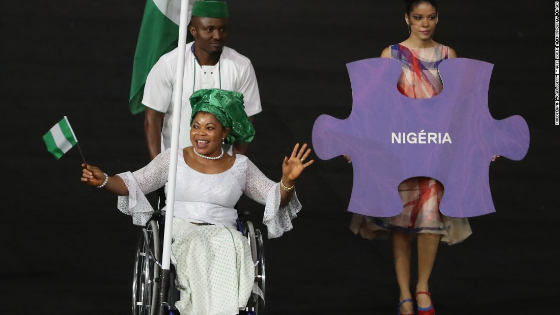 Lucy Ejike of Nigeria has attended five Paralympic games, she broke the world and Paralympic record thrice, and won Gold in the women's powerlifting -61kg. She was the flag bearer for Team Nigeria