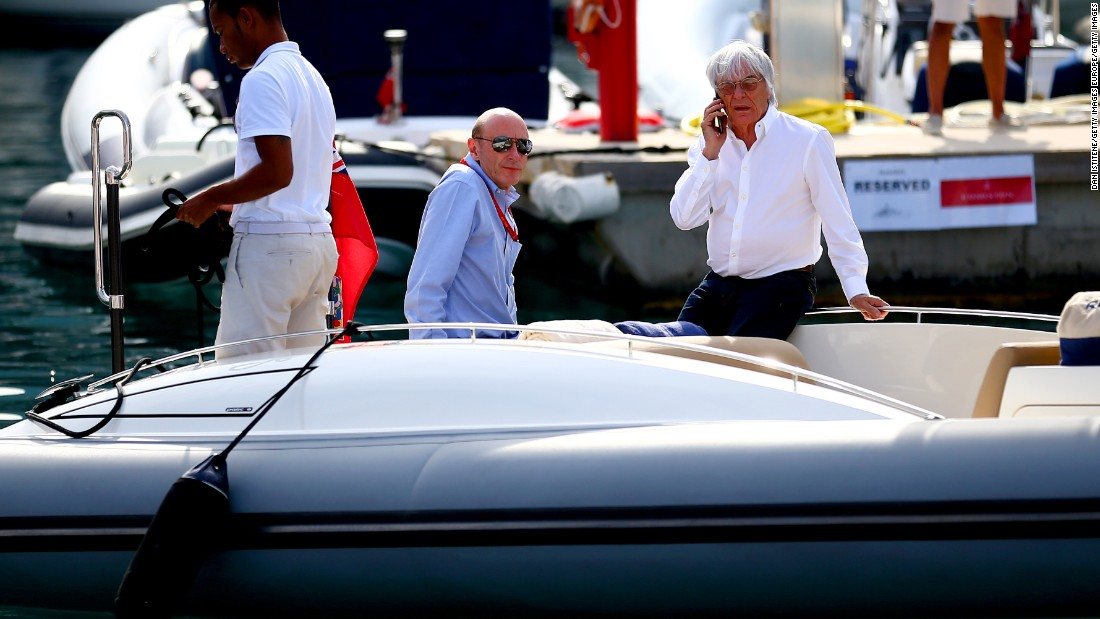 There were whispers his time could be up under previous owner CVC, but its chief executive Donald MacKenzie (center) kept the octogenarian on board despite F1's recent problems.