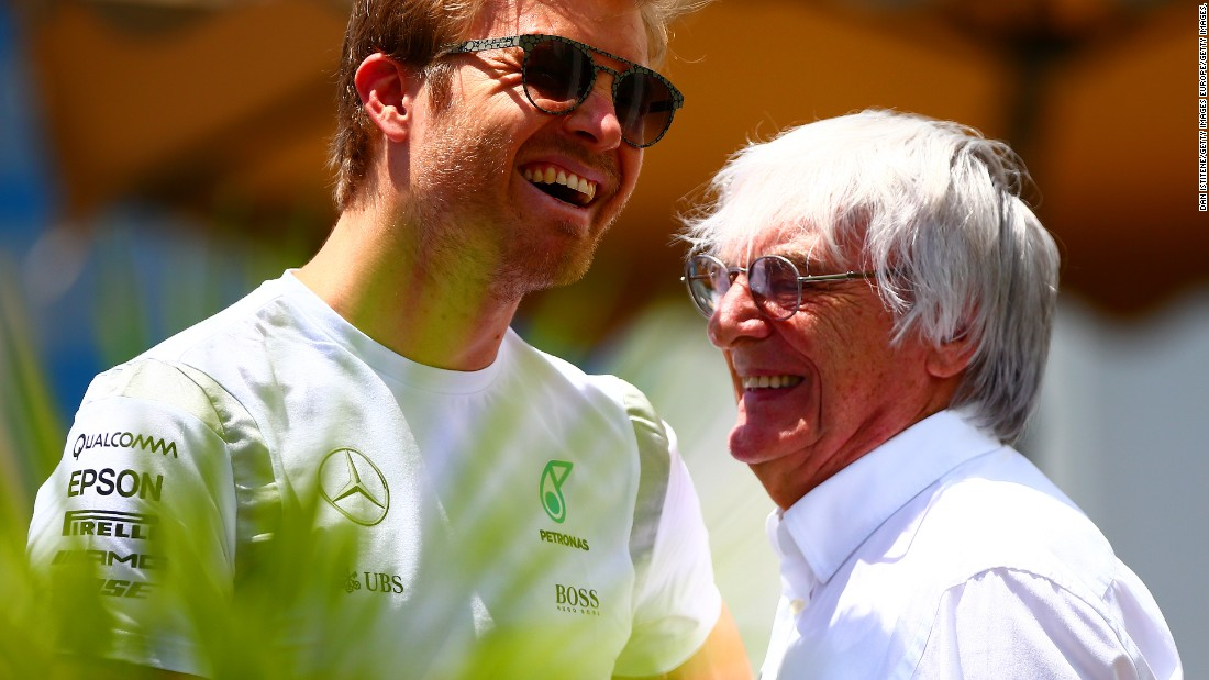 Ecclestone enjoys a good relationship with the majority of drivers on the grid, among them Mercedes' championship contender Nico Rosberg.