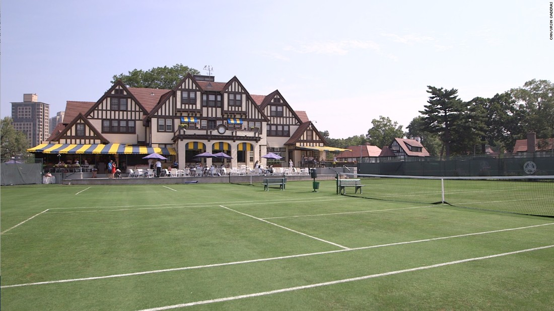 """The clubhouse remains in excellent condition along with the smaller surrounding grass courts (pictured), and retains some of the """"tea party"""" atmosphere from its halcyon days."""
