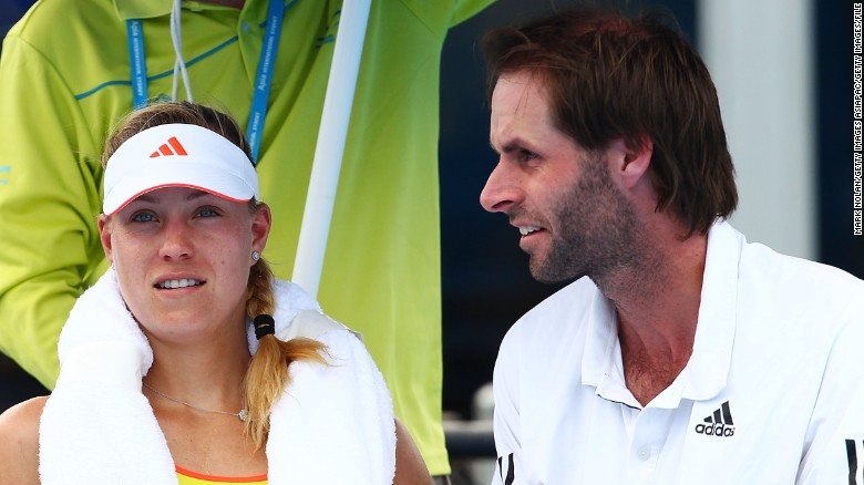 Kerber talks to Beltz at a 2013 tournament in Sydney.
