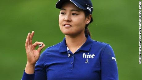 South Korea's In-Gee Chun claimed the halfway lead at the Evian Championship in France.