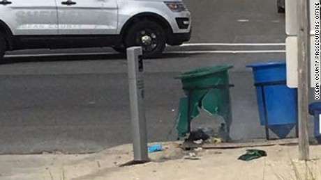 An explosive device discharged in a garbage can along the race route for a Marine Corps charity run in Seaside Park, NJ, according to the Ocean County Prosecutorís Office. A second suspicious device was reportedly found and bomb dogs are searching for any additional devices.