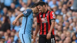 Nolito saw red after his headbutt on Bournemouth's Adam Smith.