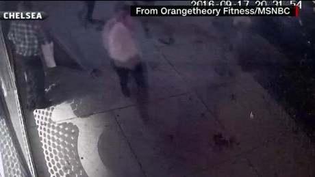 Surveillance video shows impact from the explosion.