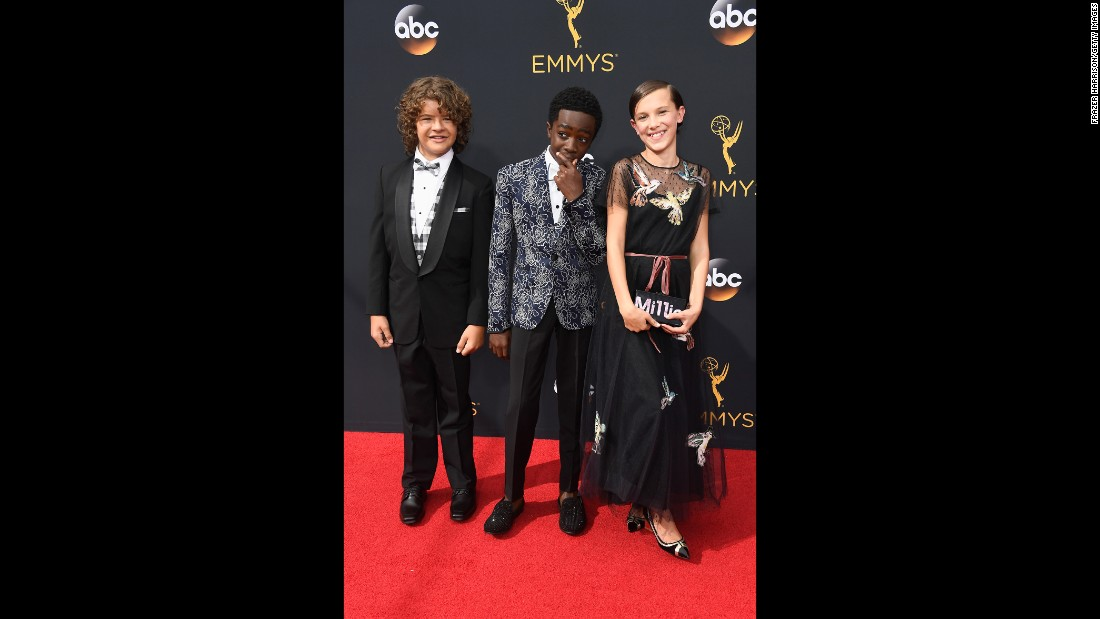 Gaten Matarazzo, Caleb McLaughlin and Millie Bobby Brown