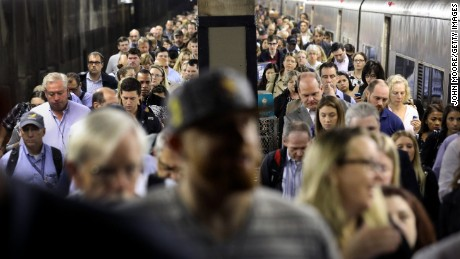 Commuters arrive to Grand Central Station on September 19, 2016 in New York City.