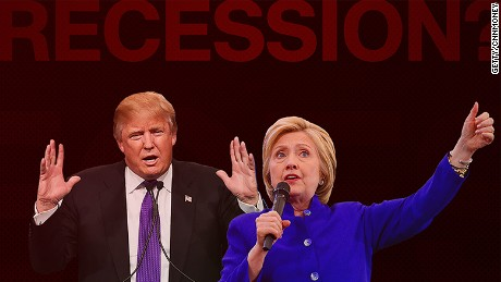 cnnmoney trump clinton recession