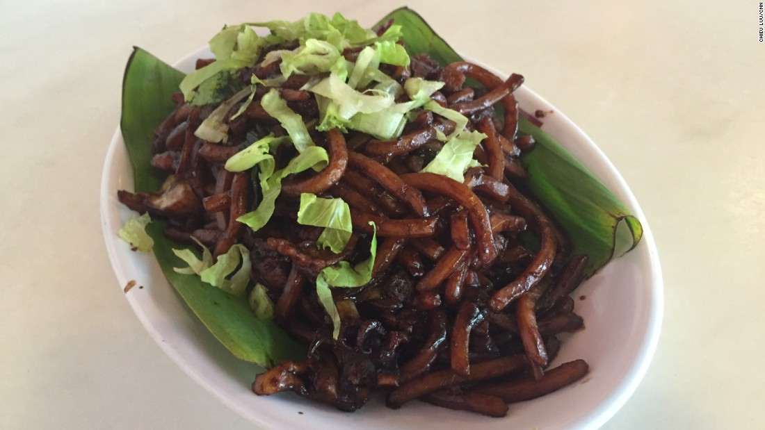 The dark sweet soy sauce used in Kam Lian Kee's Hokkien fried noodles masks all the other ingredients -- like pork, prawns, squid, cabbage and tiny bits of crispy pork skin -- so you're surprised with the rich taste of every bite.
