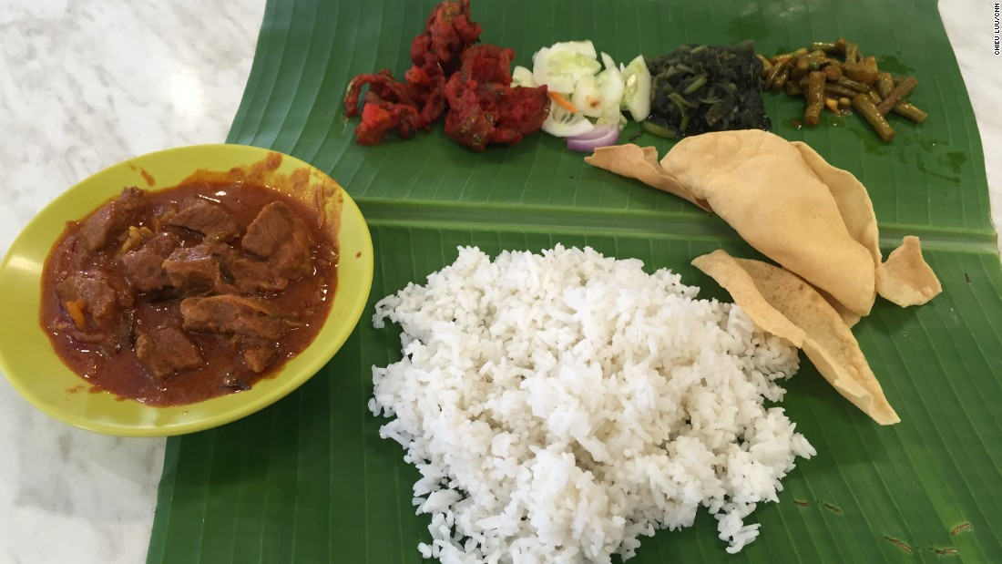 The authentic way to eat this traditional South Indian banana leaf cuisine -- as served in KL's Bangsar -- is to use your hands.