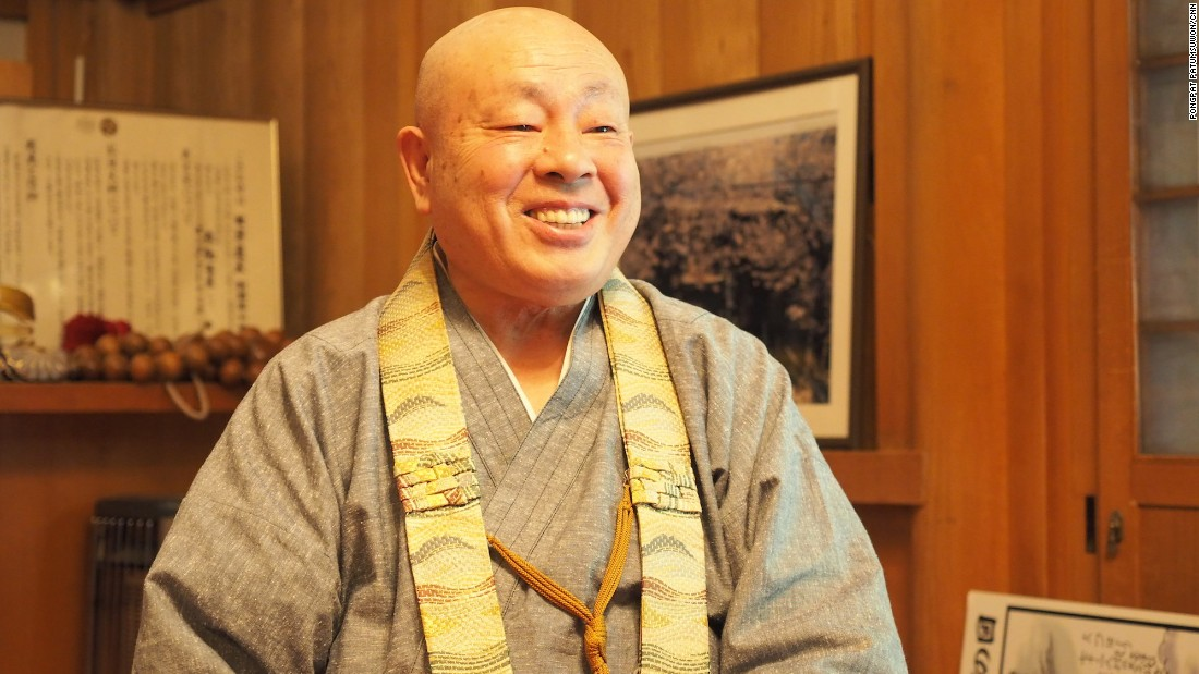 """According to legend, Kobo Daishi walked the 24 kilometers down from Mount Koya nine times a month to see his mother at Jison-In. """"That's why the town is called Kudoyama -- 'Nine Times Mountain',"""" says Annen."""