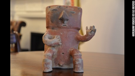 A recently recovered Colombian artifact which vanished in 1939, and turned up at an auction house in London earlier this year.