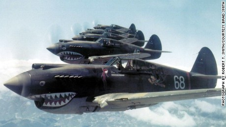 Flying Tiger pilot Robert T. Smith snapped this photo of Warhawks in flight over China on May 28, 1942.