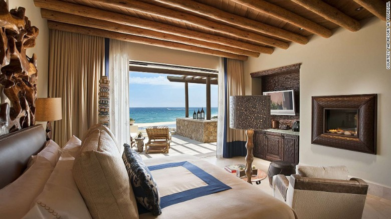 The Resort at Pedregal's beautiful and spacious rooms have impressive sea views.