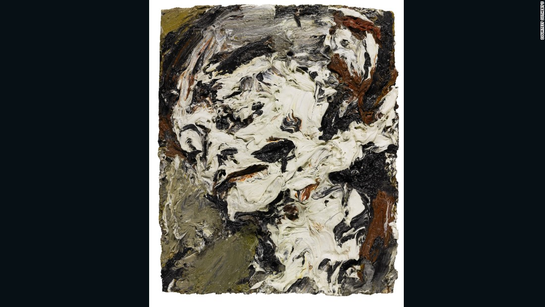 """""""My God, yeah! I want to sound like that looks"""" -- David Bowie on Frank Auerbach's work, quoted in the New York Times, 1998. Bowie loved the rich, sculptural effects of Auerbach's paintings, and clearly felt a deep affinity with the artist, whose work could provoke in him a whole gamut of reactions: """"It will give spiritual weight to my angst. Some mornings I'll look at it and go, ''Oh, God, yeah! I know!'' But that same painting, on a different day, can produce in me an incredible feeling of the triumph of trying to express myself as an artist."""" [Ibid]<br /><br />The painting was last exhibited at the Royal Academy, when Bowie lent the work to Auerbach's retrospective in 2001."""