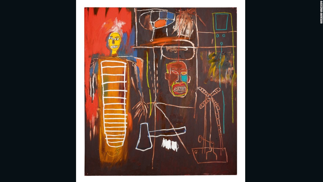 """The connection between Bowie and Basquiat has previously been established on film in Julian Schnabel's 1996 film Basquiat, in which David played the role of the young artist's mentor and collaborator, Andy Warhol. <br /><br />It is clear however that Bowie felt a strong connection to the artist and his method: """"It comes as no surprise to learn that he [Basquiat] had a not-so-hidden ambition to be a rock musician"""", wrote Bowie in Modern Painters, 1996, """"his work relates to rock in ways that very few other visual artists get near. He seemed to digest the frenetic flow of passing image and experience, put them through some kind of internal reorganization and dress the canvas with this resultant network of chance."""""""