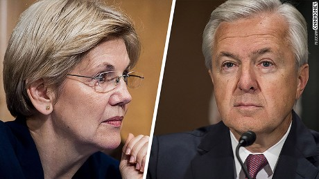 Elizabeth Warren unleashed a verbal barrage at Wells Fargo CEO John Stumpf on Tuesday