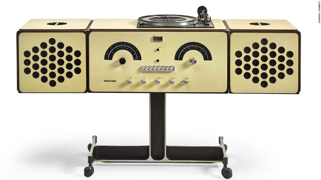Sottsass also designed a television set for Brionvega, but in David Bowie's collection, his personal record player is a stand-out piece.