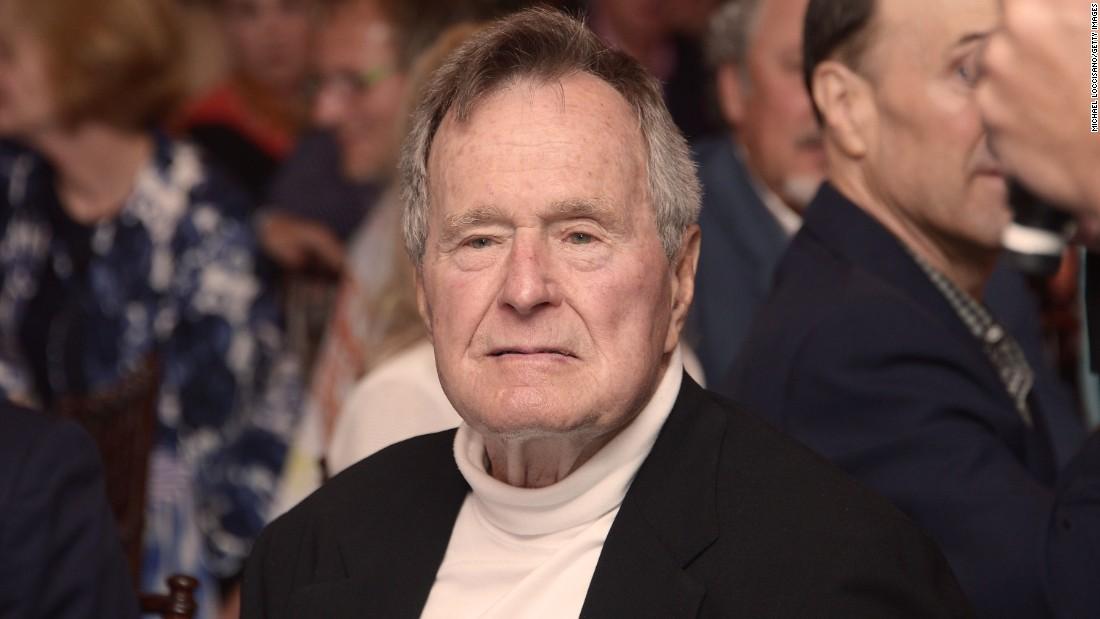 George H.W. Bush hospitalized, spokesman says