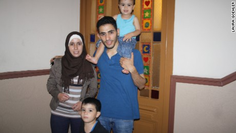Aeham Ahmad has been reunited with his wife and two sons, Kinan and Ahmad.