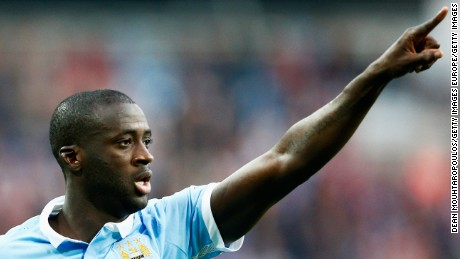 MANCHESTER, ENGLAND - SEPTEMBER 19:  Yaya Toure of Manchester City in action during the Barclays Premier League match between Manchester City and West Ham United at Etihad Stadium on September 19, 2015 in Manchester, United Kingdom.  (Photo by Dean Mouhtaropoulos/Getty Images)