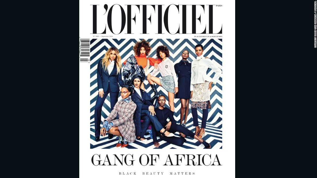 Today - he's at the helm of the fashion magazine's September issue entirely dedicated to the African continent. <br />