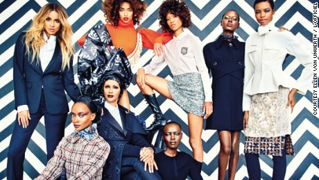 "L'Officiel's ""Gang of Africa"" issue featuring Iman, Ajak Deng, Ciara, Solange, and David Adjaye"