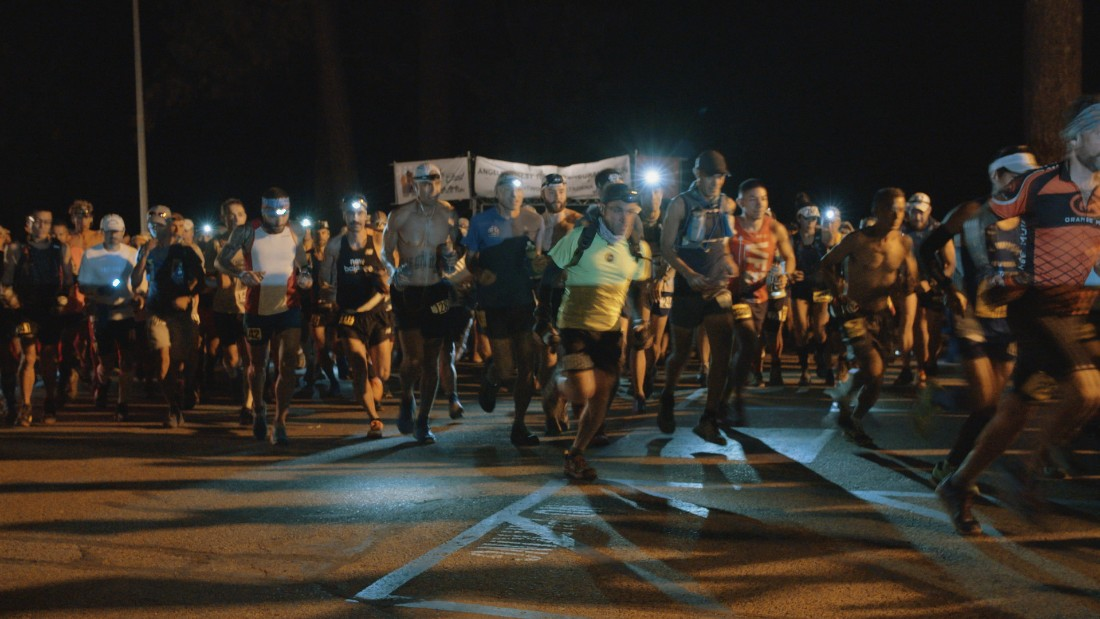 The annual Angeles Crest 100-mile ultramarathon begins before dawn in the town of Wrightwood, California.