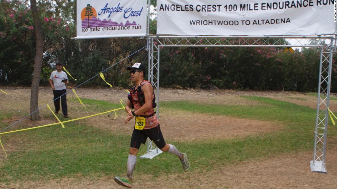The finish line is in Pasadena's Loma Alta community park.