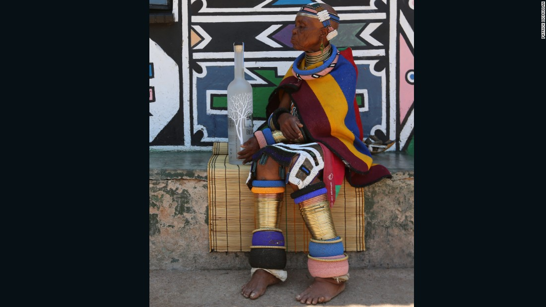 """In a statement about her latest collaboration she said """"My art has taken me all over the world and I have seen many places, I have painted many walls and objects and my work is in many museums but I am still Esther Mahlangu from Mpumalanga in South Africa."""""""