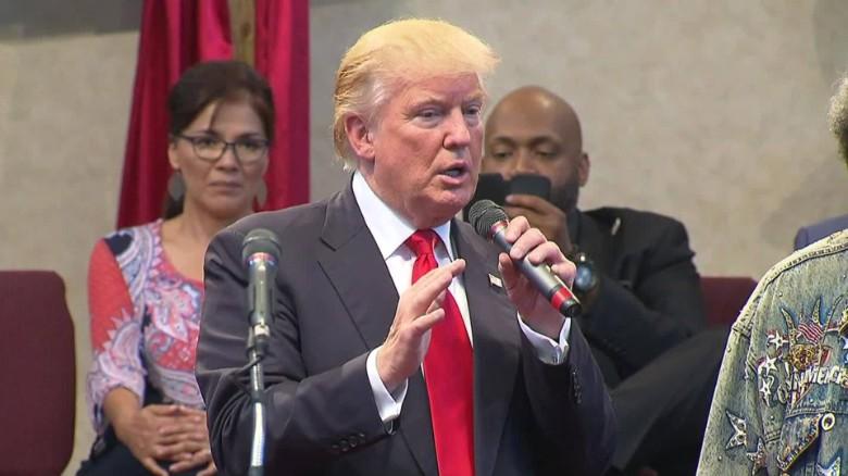 Trump: Tulsa police officer 'choked'