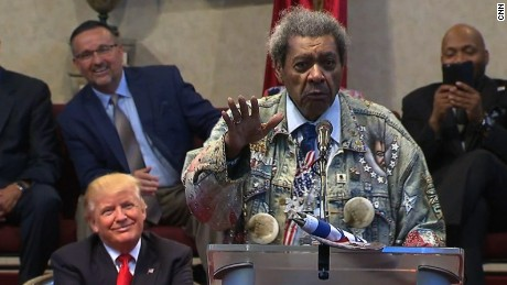 Don King uses N-word while introducing Trump
