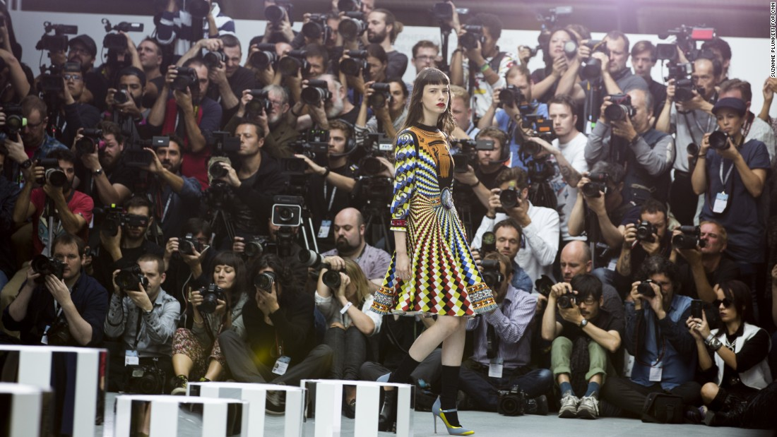Who's photographing the photographers? The pursuit of beautiful photos can be an ugly business. We sent Suzanne Plunkett into the pit at London Fashion week to expose the underbelly of an industry that requires sharp eyes -- and sharper elbows.<br /><strong><br />Pictured: </strong>Photographers shoot the Mary Katrantzou catwalk show during London Fashion Week, September 18, 2016. <br />