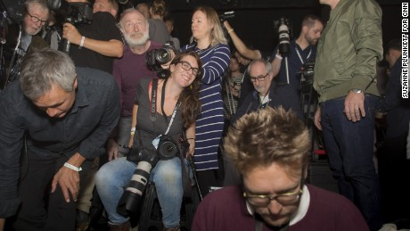 Isabel Infantes claims her space among colleagues at her first fashion week.