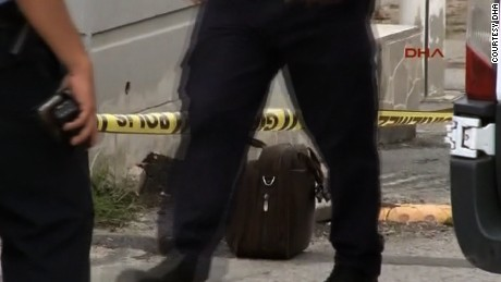 Authorities secure the scene Wednesday near the Israeli Embassy after the attack attempt.