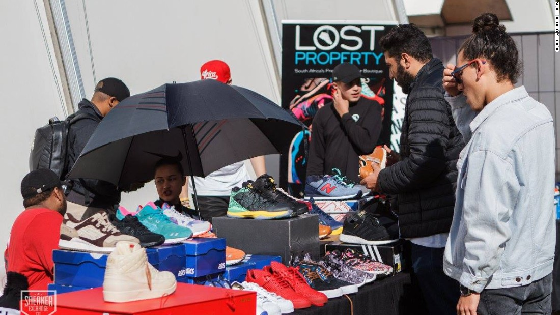 Zaid Osman's own sneaker store, Lost Property, hosts a pop-up shop at one of the Sneaker Exchange events.