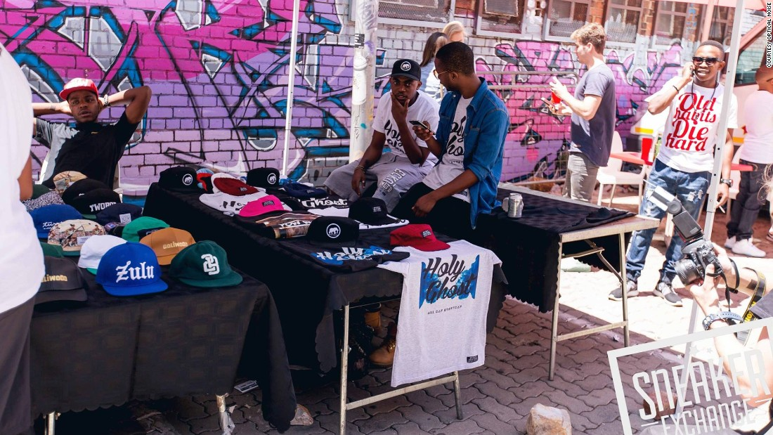 Clothes are also on sale at Sneaker Exchange events, such as these at the Cape Town event.