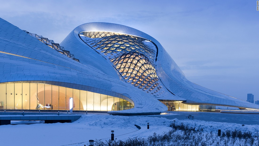 Designed by MAD architects, the opera house is a reminder of Harbin's cultural heritage. <br />