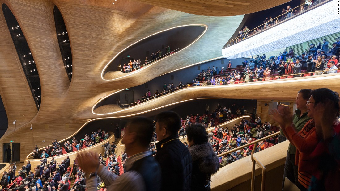 """Our citizens are proud that they possess this kind of world-standard opera house ... They love the city more, and are more confident about art development in the future,"" says the Mayor of Harbin, Song Xibin."