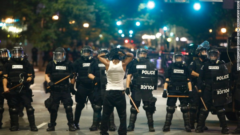 Curfew begins in Charlotte, protesters still in street