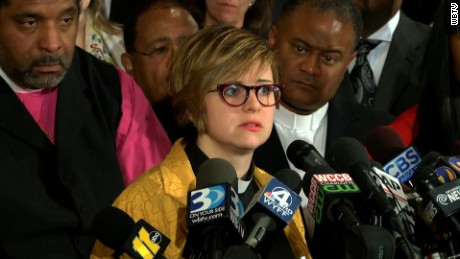 "The Rev. Robin Tanner, chairwoman of the Charlotte Clergy Coalition for Justice, says she was with protesters to be a witness to ""the righteous rage."""
