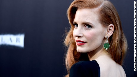 "HOLLYWOOD, CA - OCTOBER 26:  Actress Jessica Chastain attends the premiere of Paramount Pictures' ""Interstellar"" at TCL Chinese Theatre IMAX on October 26, 2014 in Hollywood, California.  (Photo by Frazer Harrison/Getty Images)"