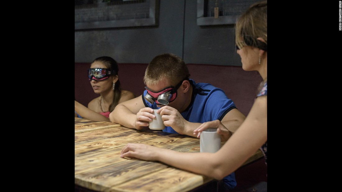 Blind tests are among the activities offered at Atmosphera, an entertainment business that opened a year ago in Sevastopol, Crimea.