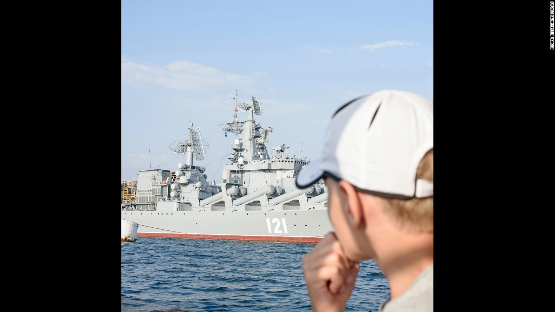 Sevastopol has been a naval port for centuries. The special status of the city makes it a strategic military base for Russia. Bizet said many tourists come to the bay to admire cruisers and old submarines.