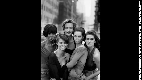 Naomi Campbell, Linda Evangelista, Tatjana Patitz, Christy Turlington & Cindy Crawford, New York, 1990
