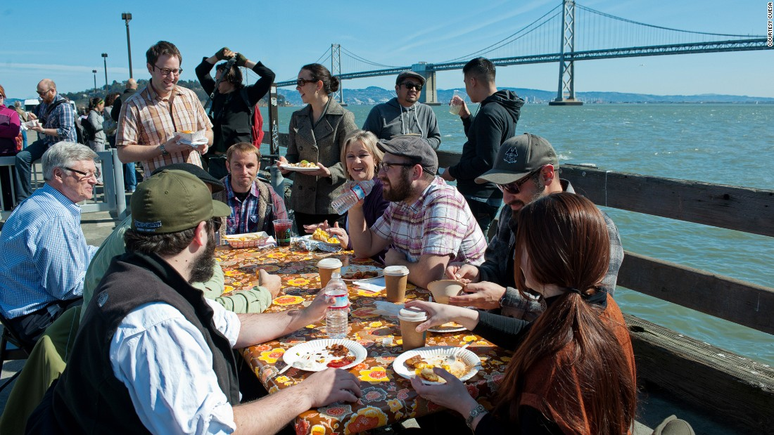 San Francisco's food scene is becoming increasingly exclusive. Thankfully it's still home to cheaper chow -- sometimes with impressive backdrops.